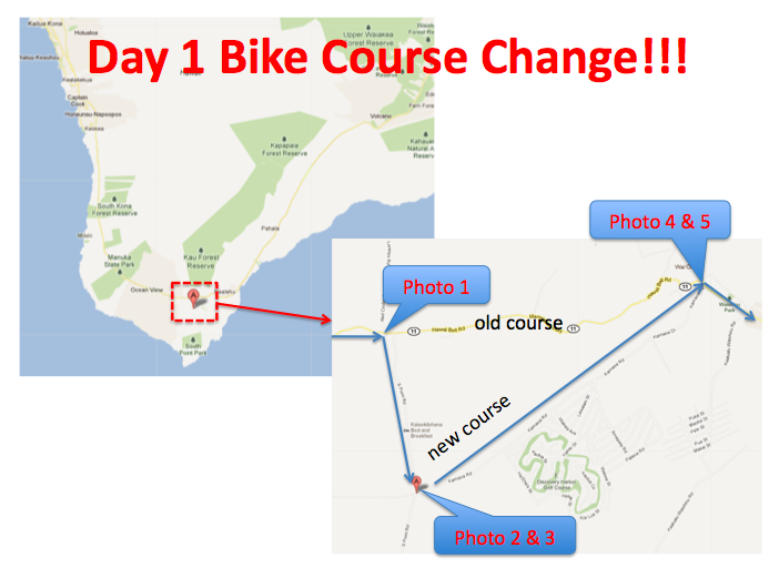 Day 1 - bike change map