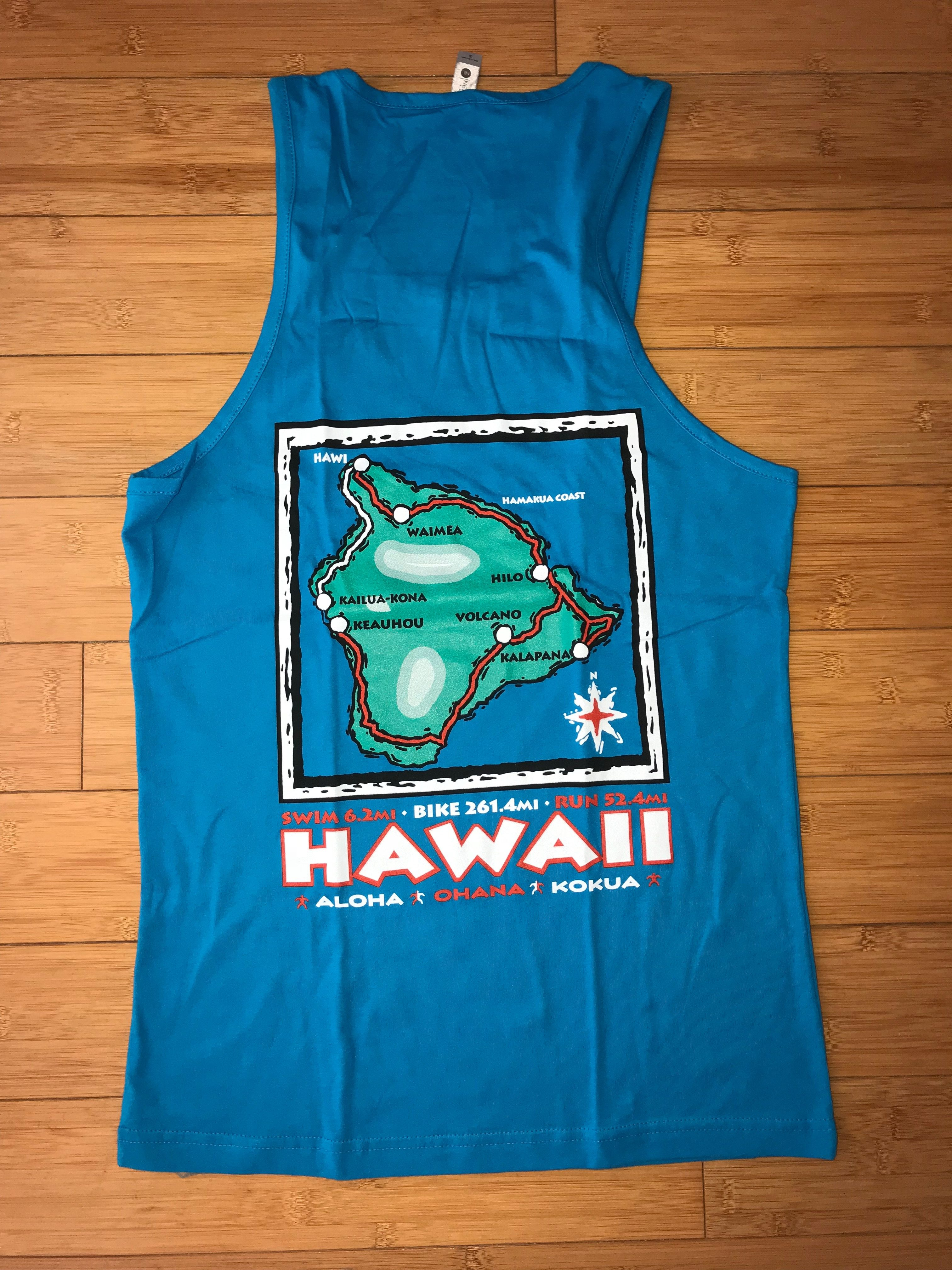 2017 Map Tank Top-Turquoise